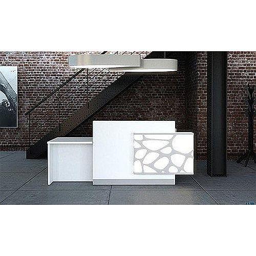 Organic Modern White Illuminated Reception Unit RD12