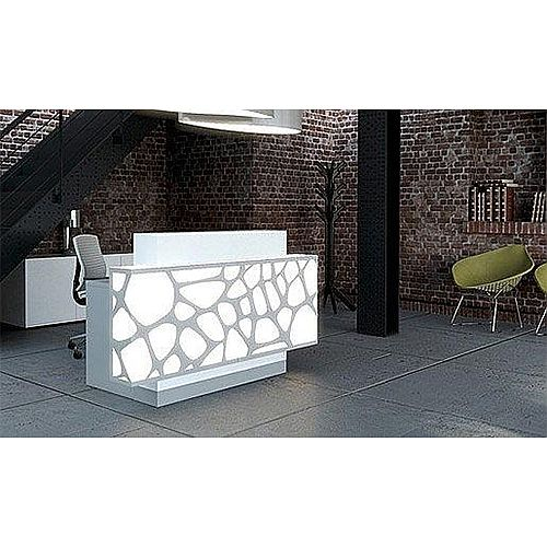 Organic Modern Illuminated White Reception Desk  RD13