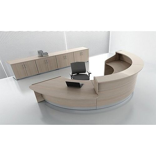 Valde Circular  Reception Unit Canadian Oak  Finish RD37