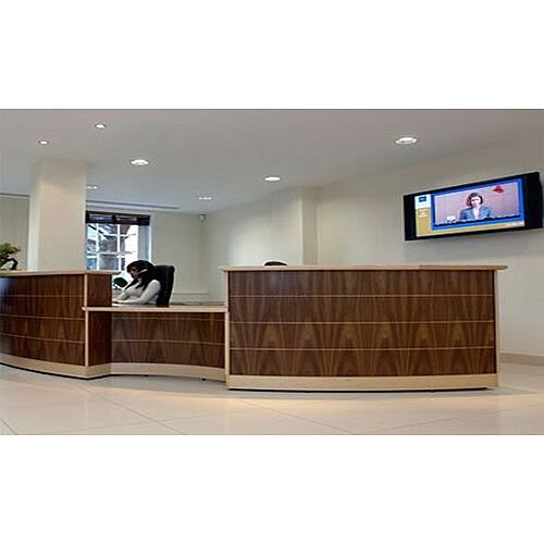Large Curved Wooden Reception Unit RD63