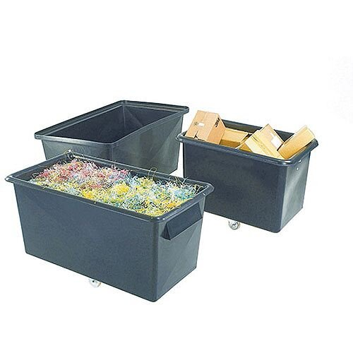 Recycled Container Truck Poly Tapered Sided Black 307L 329063