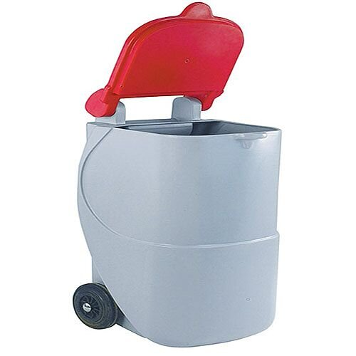 Recycling Wheelie Bin 90 Litre Non-Locking Red 124605