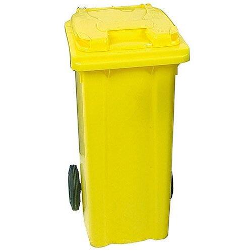Yellow Clinical Waste 2 Wheel Wheelie Bin 240L Dimensions: H1070 x W580mm 377919