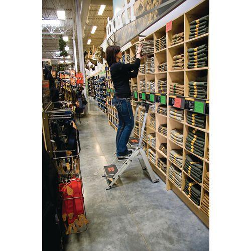 Safety Step Aluminium 3 Tread Platform Height 680mm Capacity 175Kg