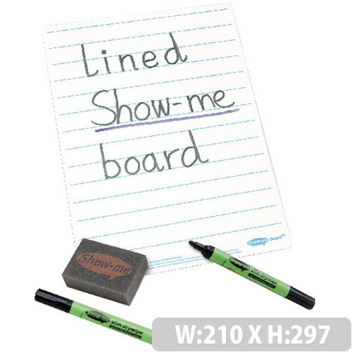 A4 Lined Whiteboard Sets 35 Pack Showme