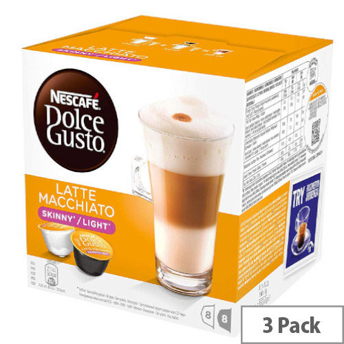 Nescafe Dolce Gusto Skinny Latte Capsules Makes 24 Drinks