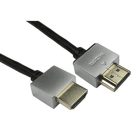 1.0m Black Super Soft Slim HDMI Cable SSSHDMI1M-B