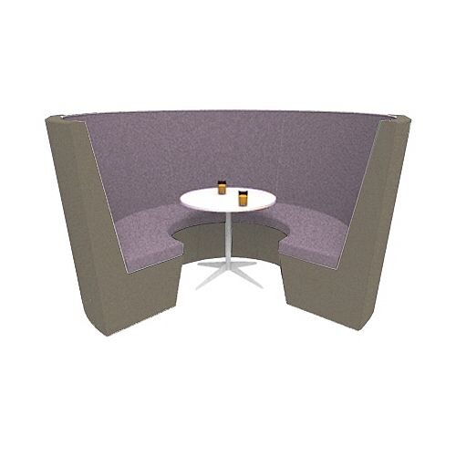 Modular Meeting Pod STELLA 3 Sections Coffee