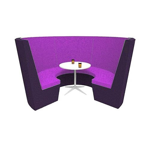 Modular Meeting Pod STELLA 3 Sections Purple
