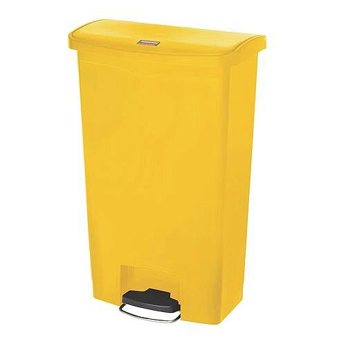 Step-On Bin 45.5 Litre 415x400x600mm Yellow 324305