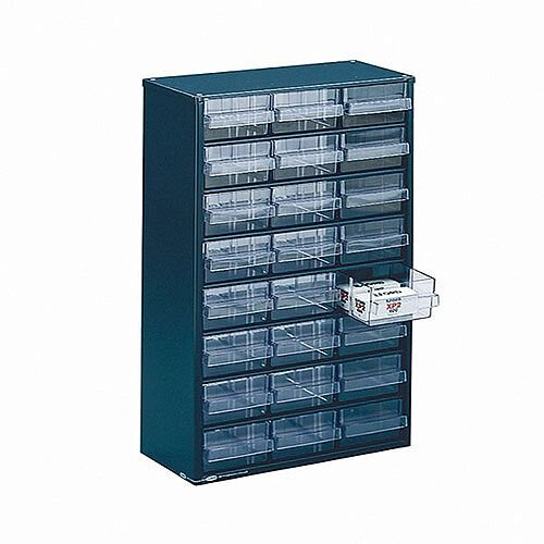 Storage Cabinet Clear Drawer System Dark Grey 324124