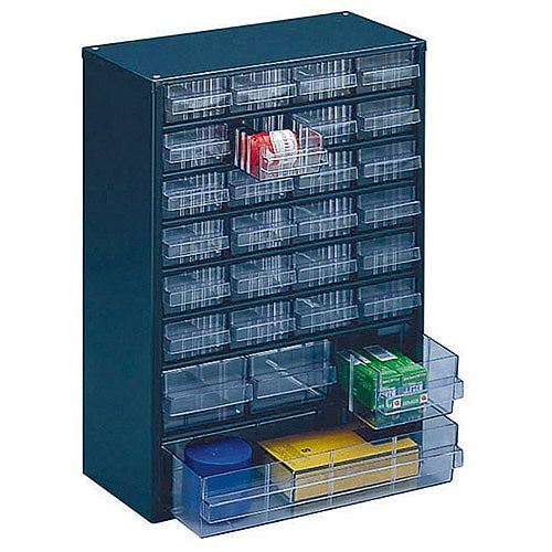 Storage Cabinet Clear Drawer System Dark Grey 324128