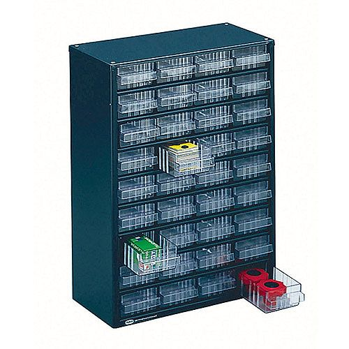 Storage Cabinet Clear Drawer System Dark Grey 324160