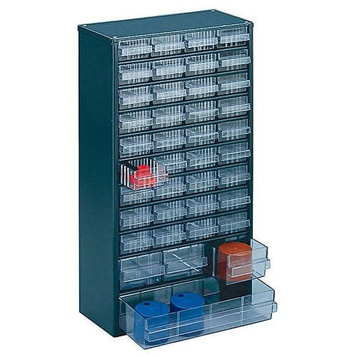 Storage Cabinet Clear Drawer System Dark Grey 324171