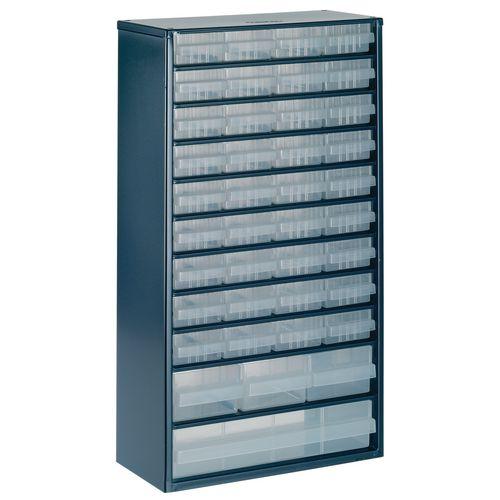 Storage Cabinet Clear Drawer System Dark Grey 324171