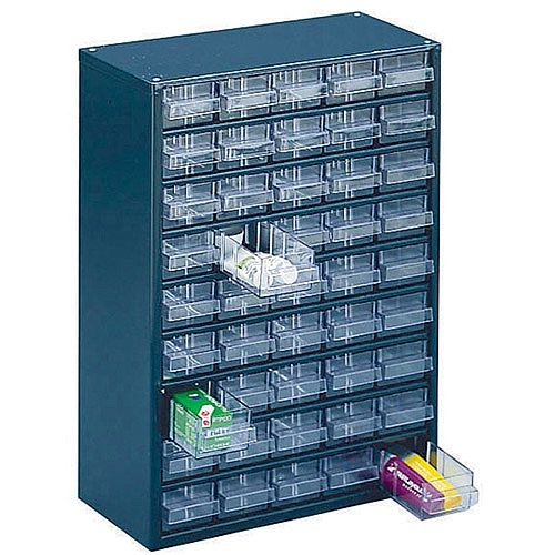 Storage Cabinet Clear Drawer System Dark Grey 324193