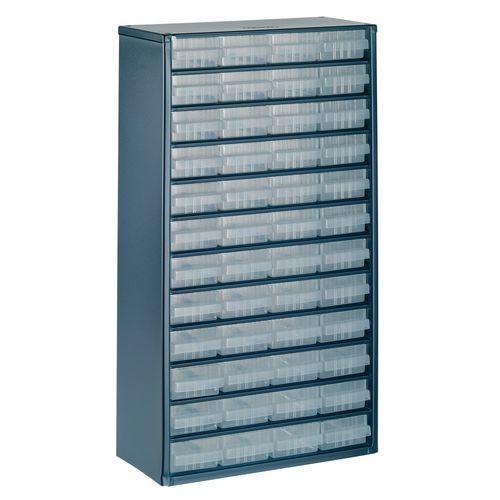 Storage Cabinet Clear Drawer System Dark Grey 324196