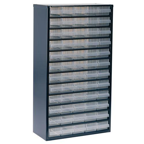 Storage Cabinet Clear Drawer System Dark Grey 324208