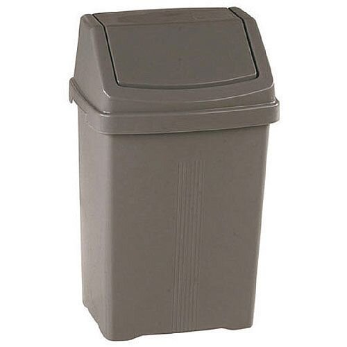 Silver 25 Litre Swing Bin (Pack of 1) 379768