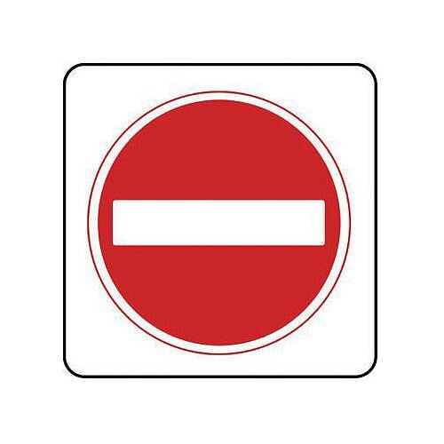 Aluminium General Traffic Sign No Entry Symbol