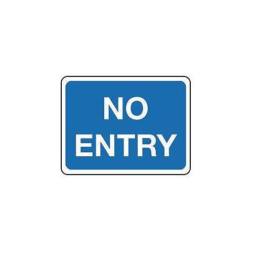 Aluminium General Traffic Sign No Entry Text