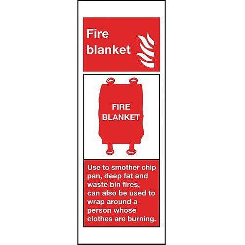 Aluminium Fire Blanket Sign