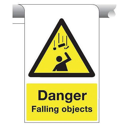 Sign Danger Falling Objects 450X600 Aluminium