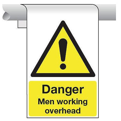 Sign Danger Men Working Overhead 450X600 Aluminium