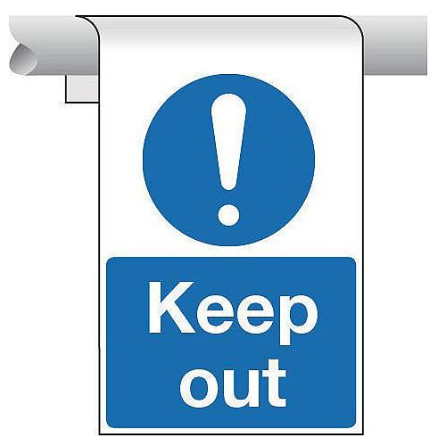 Sign Keep Out Roll Top 450X600 Aluminium