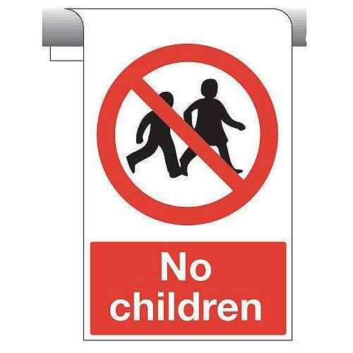 Sign No Chidren Roll Top 450X600 Aluminium