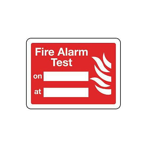 Sign Fire Alarm Test 200X150 Aluminium