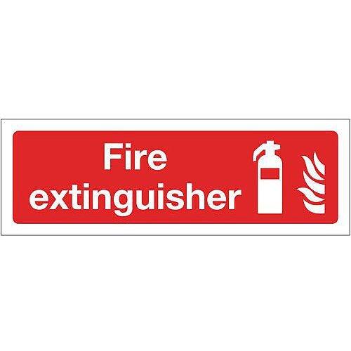 Rigid PVC Plastic Fire Fighting Equipment Sign Fire Extinguisher