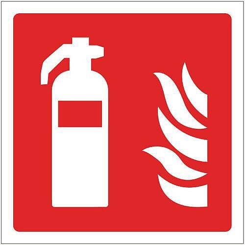 Rigid PVC Plastic Fire Fighting Equipment Sign Extinguisher Pictorial