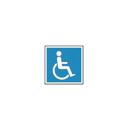 Rigid PVC Plastic Information Sign Wheelchair