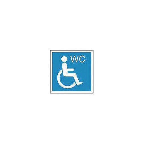 Rigid PVC Plastic Information Sign Wheelchair Wc