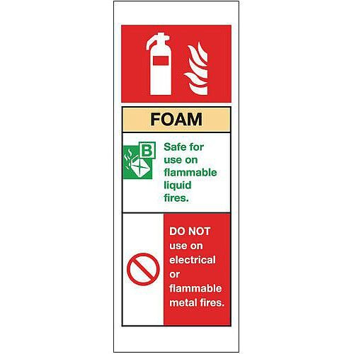 Rigid PVC Plastic Fire Extinguisher Sign Foam