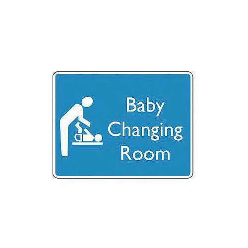 Rigid PVC Plastic Information Sign Baby Changing Room