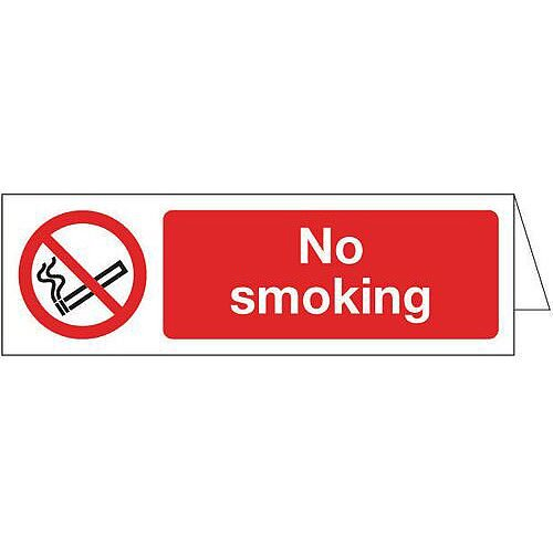 Sign Desktop No Smoking 160x50 Acrylic