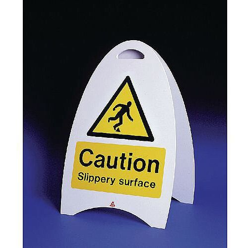 Free Standing Sign Caution Slippery Surface