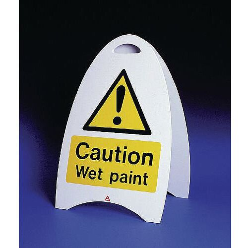 Free Standing Sign Caution Wet Paint