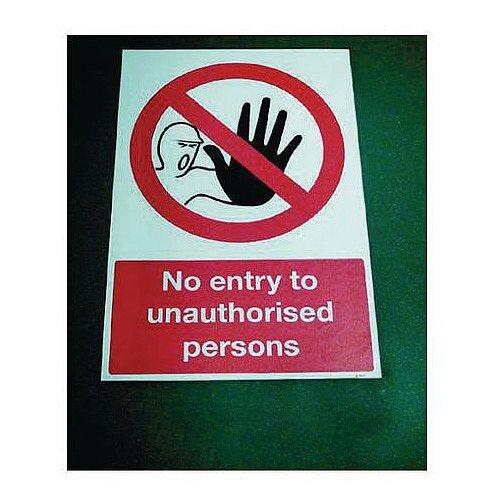 Sign No Entry To Unauthorise 400x600 Floor Vinyl
