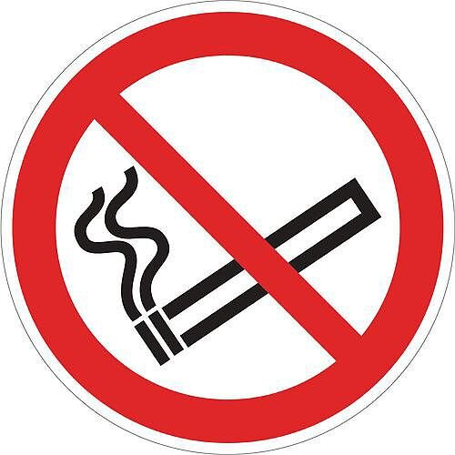 Sign No Smoking Pictorial 400x400 Floor Vinyl
