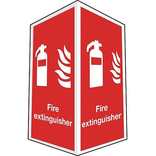 Sign Fire Extinguisher Projecting 200X300 R D Plastic
