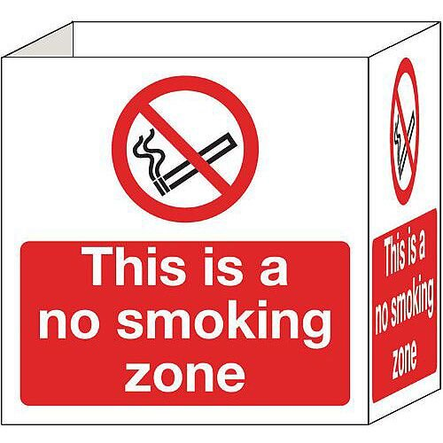 Cube Signs No Smoking 200X200mm