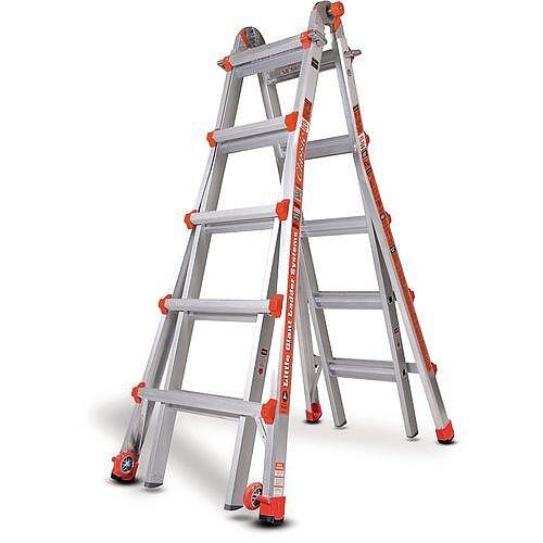 Aluminium Multipurpose Telescopic Ladder  5 Rung Per Section 5210Mm Extended Height