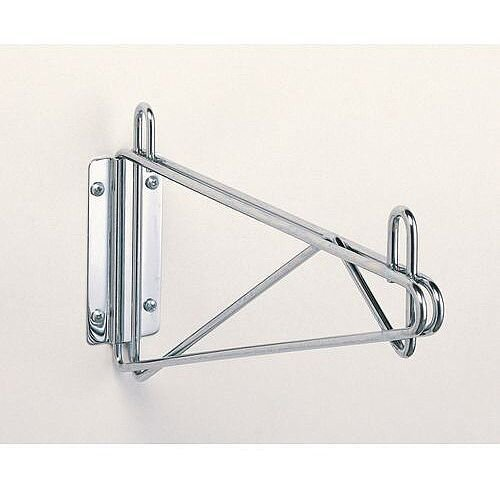 Fixed Stainless Steel Wall Mounted Bracket 356mm Wide Shelves