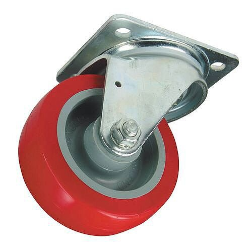 Polyurethane Tyred Wheel, Medium Duty - Swivel Load Capacity 250kg