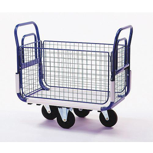 Dual Handle Mailroom Trolley With Sides