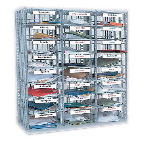 Mail Sorting Units 24 Compartment Kit 3 columns x 8 1016mm High Exact Compartment Type