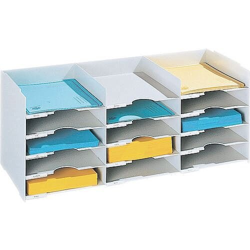 Horizontal Desktop Organiser 15 Tray To Fit Tambour Unit Fp49001